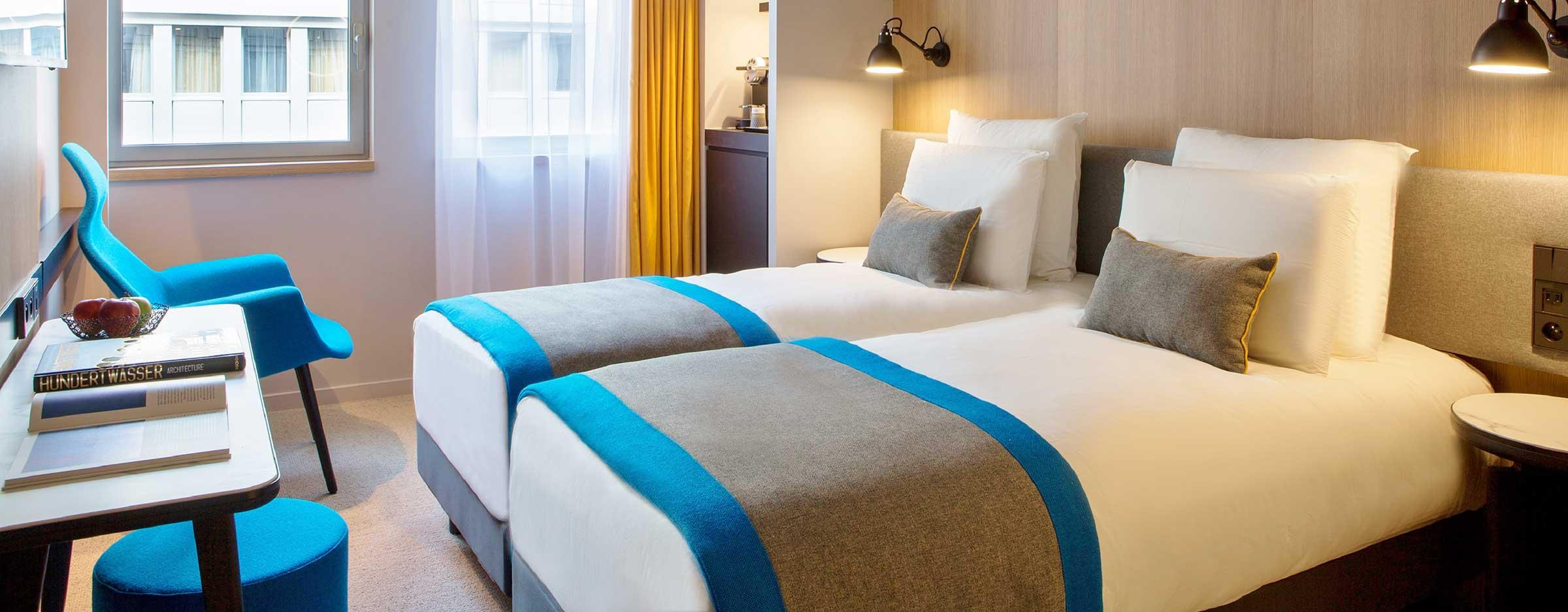Twin Rooms Mercure Paris